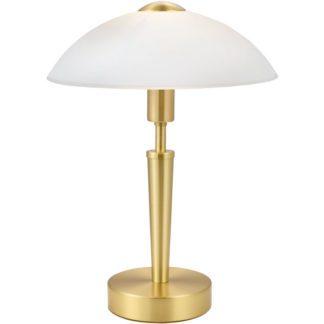 Επιτραπέζιο φωτιστικό SOLO 87254 χρώμα ορείχαλκου-ματ λευκό γυαλί