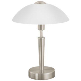 Επιτραπέζιο φωτιστικό SOLO1 85104 ματ νίκελ-ματ λευκό γυαλί