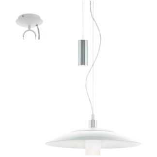 Κρεμαστό φωτιστικό CABRAL 95463 λευκό & χρωμιομένο ατσάλι-λευκό γυαλί