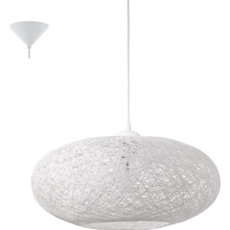 Κρεμαστό φωτιστικό CAMPILO 93373 πλεγμένες λευκές ίνες