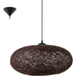 Κρεμαστό φωτιστικό CAMPILO 93375 πλεγμένες καφέ ίνες