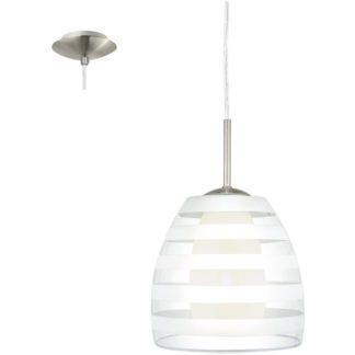 Κρεμαστό φωτιστικό FARGO 88853 γυαλί λευκό οπαλίου-ματ διάφανο