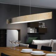 Κρεμαστό φωτιστικό FORNES 93341 χρυσαφί και λευκό (2)
