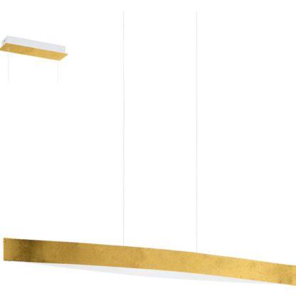 Κρεμαστό φωτιστικό FORNES 93341 χρυσαφί και λευκό