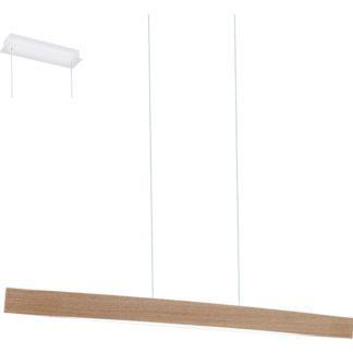 Κρεμαστό φωτιστικό FORNES 93342 ξύλο σε χρώμα δρυ και λευκό