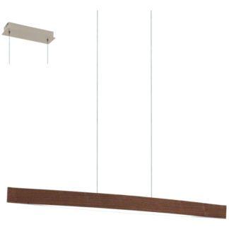 Κρεμαστό φωτιστικό FORNES 93343 ξύλο σε χρώμα καρυδιάς και λευκό