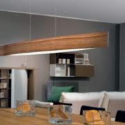 Κρεμαστό φωτιστικό FORNES 93343 ξύλο σε χρώμα καρυδιάς και λευκό(2)