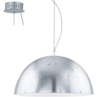 Κρεμαστό φωτιστικό GAETANO 92955 ασημί ατσάλι-λευκό εσωτερικό Ø530mm