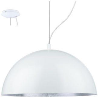 Κρεμαστό φωτιστικό GAETANO 94939 λευκό ατσάλι-ασημί Ø380mm