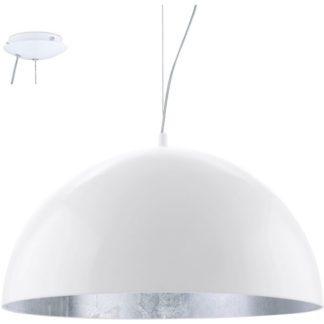 Κρεμαστό φωτιστικό GAETANO 94941 λευκό ατσάλι-ασημί Ø530mm