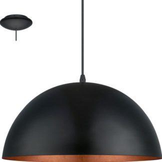 Κρεμαστό φωτιστικό GAETANO1 94937 μαύρο ατσάλι-χάλκινο Ø380mm