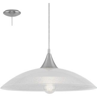 Κρεμαστό φωτιστικό LAZOLO 96076 διαφανές και τύπου γρανίτη γυαλί