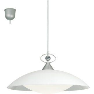 Κρεμαστό φωτιστικό LOBBY 82863 χρωμιομένο αλουμίνιο-ματ γυαλί λευκό