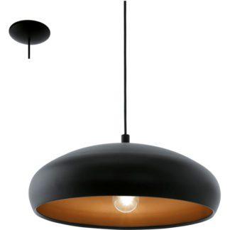 Κρεμαστό φωτιστικό MOGANO 1 94605 μαύρο ατσάλι-χάλκινο