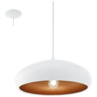 Κρεμαστό φωτιστικό MOGANO 1 94606 λευκό ατσάλι-χάλκινο