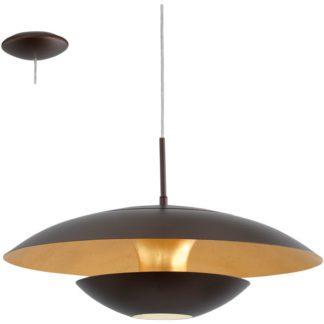 Κρεμαστό φωτιστικό NUVANO 95755 ατσάλι καφέ-χρυσαφί