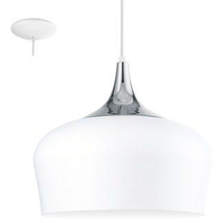 Κρεμαστό φωτιστικό OBREGON 95384 λευκό-χρώμιο