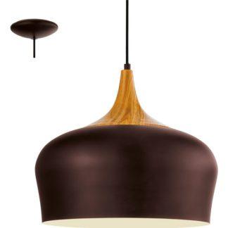 Κρεμαστό φωτιστικό OBREGON 95385 ατσάλι καφέ-δρύς