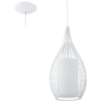 Κρεμαστό φωτιστικό RAZONI 92251 μονόφωτο λευκό