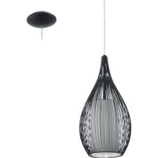 Κρεμαστό φωτιστικό RAZONI 92252 μονόφωτο μαύρο-λευκό