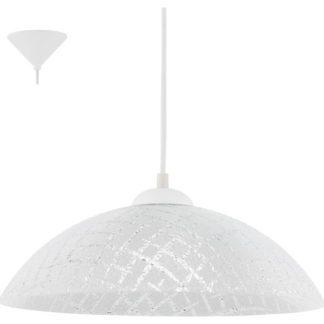 Κρεμαστό φωτιστικό VETRO 96069 πτυχωτό γυαλί λευκό-διαφανές
