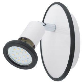 Νεανικό φωτιστικό σποτ LED μονόφωτο MODINO 94171 λευκο & μαύρο