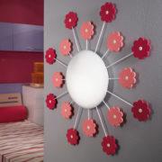 Παιδικό φωτιστικό οροφής-τοίχου με ροζ λουλούδια VIKI1 92147 (2)