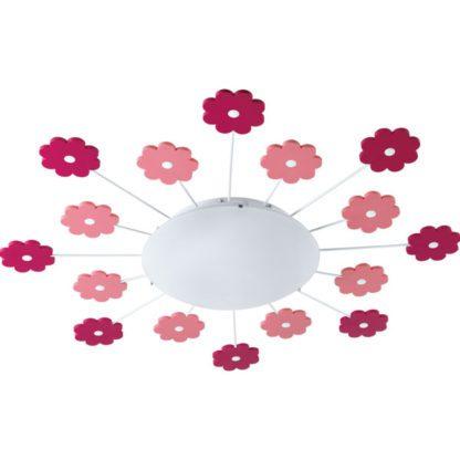 Παιδικό φωτιστικό οροφής-τοίχου με ροζ λουλούδια VIKI1 92147