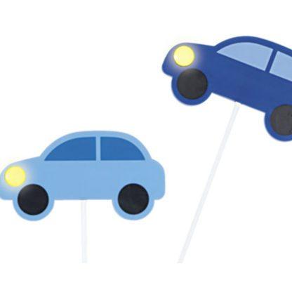 Παιδικό φωτιστικό οροφής-τοίχου μπλε αυτοκινητάκια VIKI1 92146 (4)