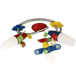 Παιδικό φωτιστικό σποτ οροφής-τοίχου LED τρίφωτο SIRO1 93187