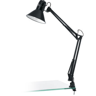 Επιτραπέζιο φωτιστικό FIRMO 90873 μαύρο με κλιπ