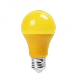 Λάμπα LED E27 A60 SMD 9W Κίτρινη 7342