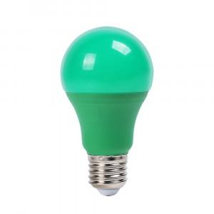 Λάμπα LED E27 A60 SMD 9W Πράσινη 7343