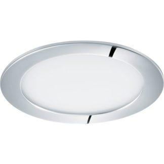 Σποτ χωνευτό μπάνιου ασημί FUEVA1 96055 θερμό λευκό φως Ø170mm