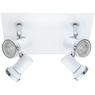 Φωτιστικό μπάνιου σποτ τετράφωτο λευκό TAMARA 1 95995