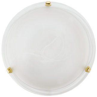 Φωτιστικό οροφής-τοίχου SALOME 7183 Ø400mm λευκό-χρυσαφί