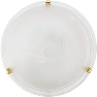 Φωτιστικό οροφής-τοίχου SALOME 7185 Ø300mm λευκό-χρυσαφί
