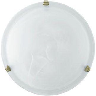 Φωτιστικό οροφής-τοίχου SALOME 7901 Ø400mm λευκό-μπρονζέ