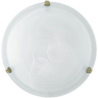 Φωτιστικό οροφής-τοίχου SALOME 7902 Ø300mm λευκό-μπρονζέ