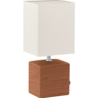 Επιτραπέζιο φωτιστικό MATARO 93045 καφέ-λευκό