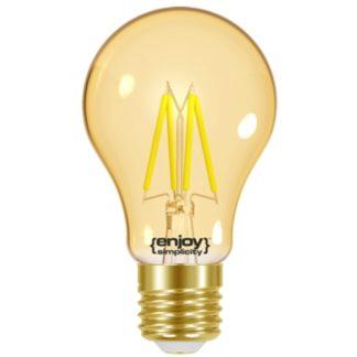 Λάμπα LED FILLAMENT AMBER A60-4 4.2W θερμό λευκό EL825601