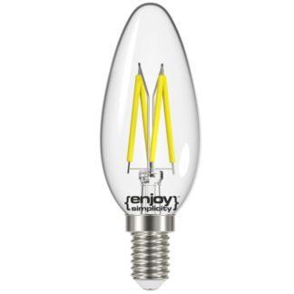 Λάμπα LED FILLAMENT CLEAR B35-4 4W θερμό λευκό EL822352