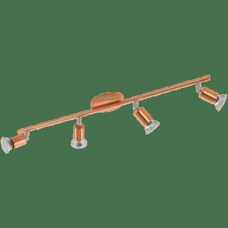Σποτ οροφής-τοίχου τετράφωτο BUZZ-COPPER 94775