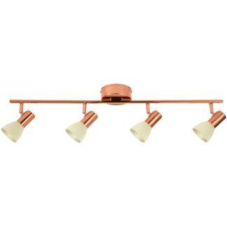 Σποτ οροφής-τοίχου τετράφωτο GLOSSY 2 94739 χρώμα χαλκού