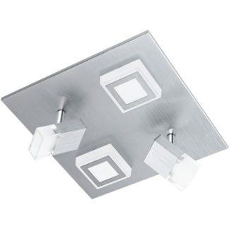Φωτιστικό οροφής-τοίχου τετράφωτο MASIANO 94512 με σποτ