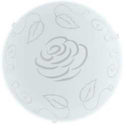 Φωτιστικό οροφής-τοίχου MARS 89238 με σχέδιο λουλούδι