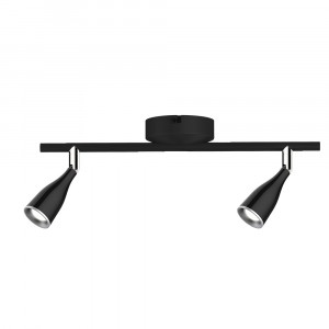 LED φωτιστικό οροφής διπλό 9W 3000K Θερμό λευκό Μαύρο σώμα VTAC 8267