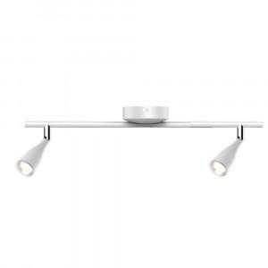 LED φωτιστικό οροφής διπλό 9W 4000K Φυσικό λευκό Λευκό σώμα VTAC 8268