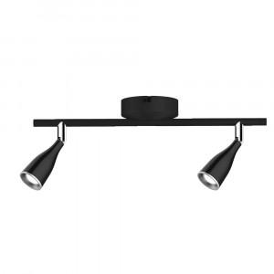 LED φωτιστικό οροφής διπλό 9W 4000K Φυσικό λευκό Μαύρο σώμα VTAC 8269