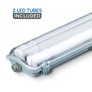 Αδιάβροχο φωτιστικό LED 2x18W 1200mm Λευκό 6400K VTAC 6399